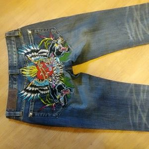 Christian Audiger embellished jeans